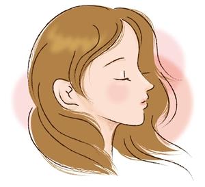 女性の横顔イラスト